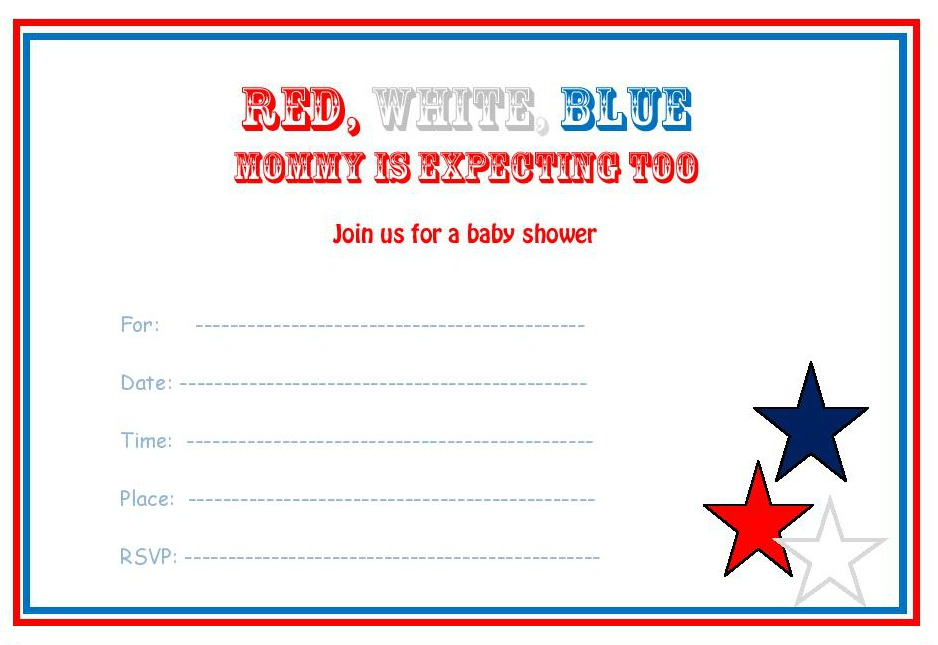 free 4th of July baby shower invitation