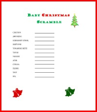 baby christmas scramble game