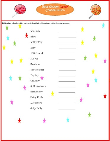 graphic relating to 75 Printable Baby Shower Games With Answers identified as Cost-free Printable Kid Shower Online games