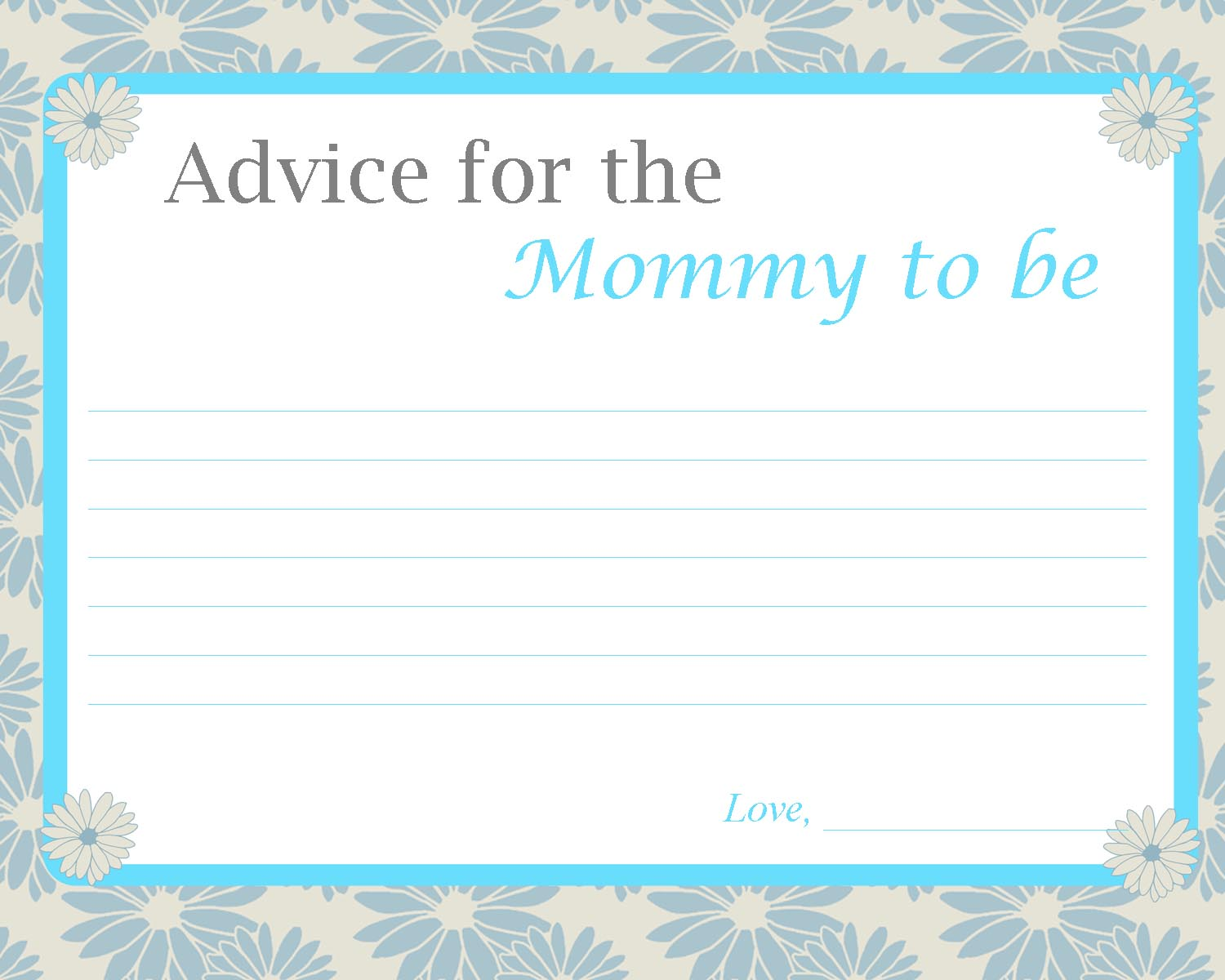 Worksheets For New Moms : Fun baby shower activities