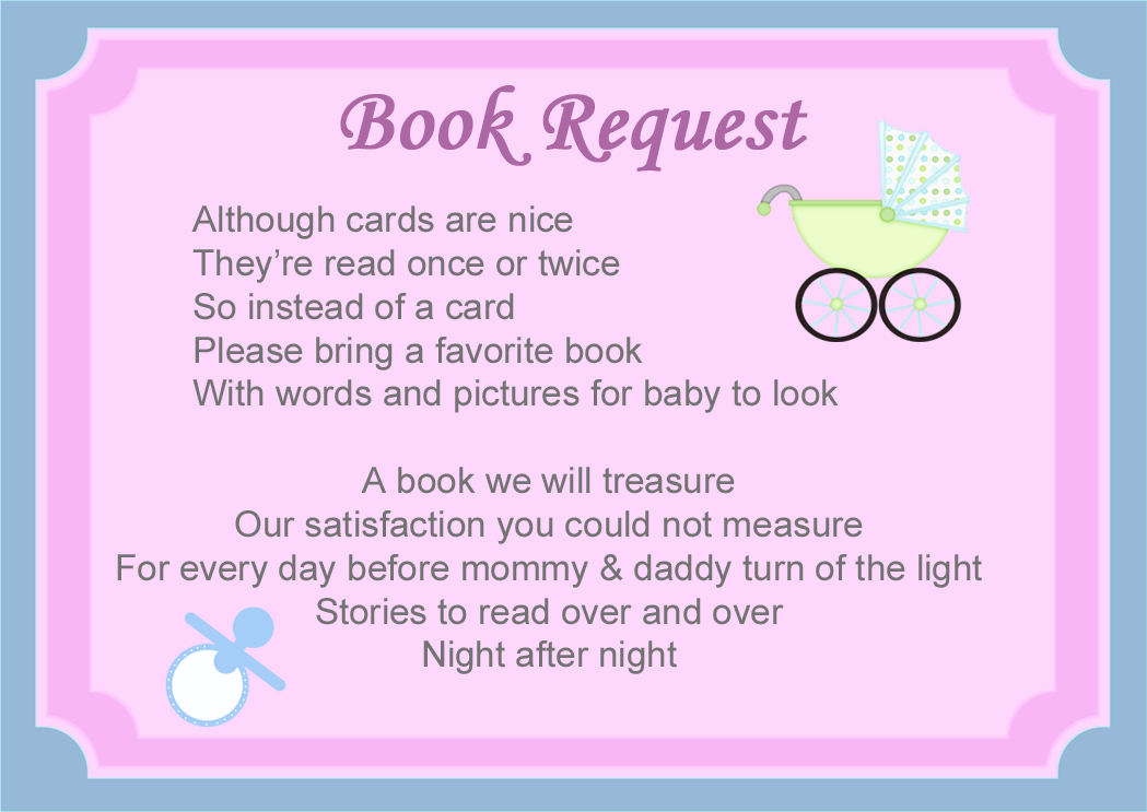 baby shower book request