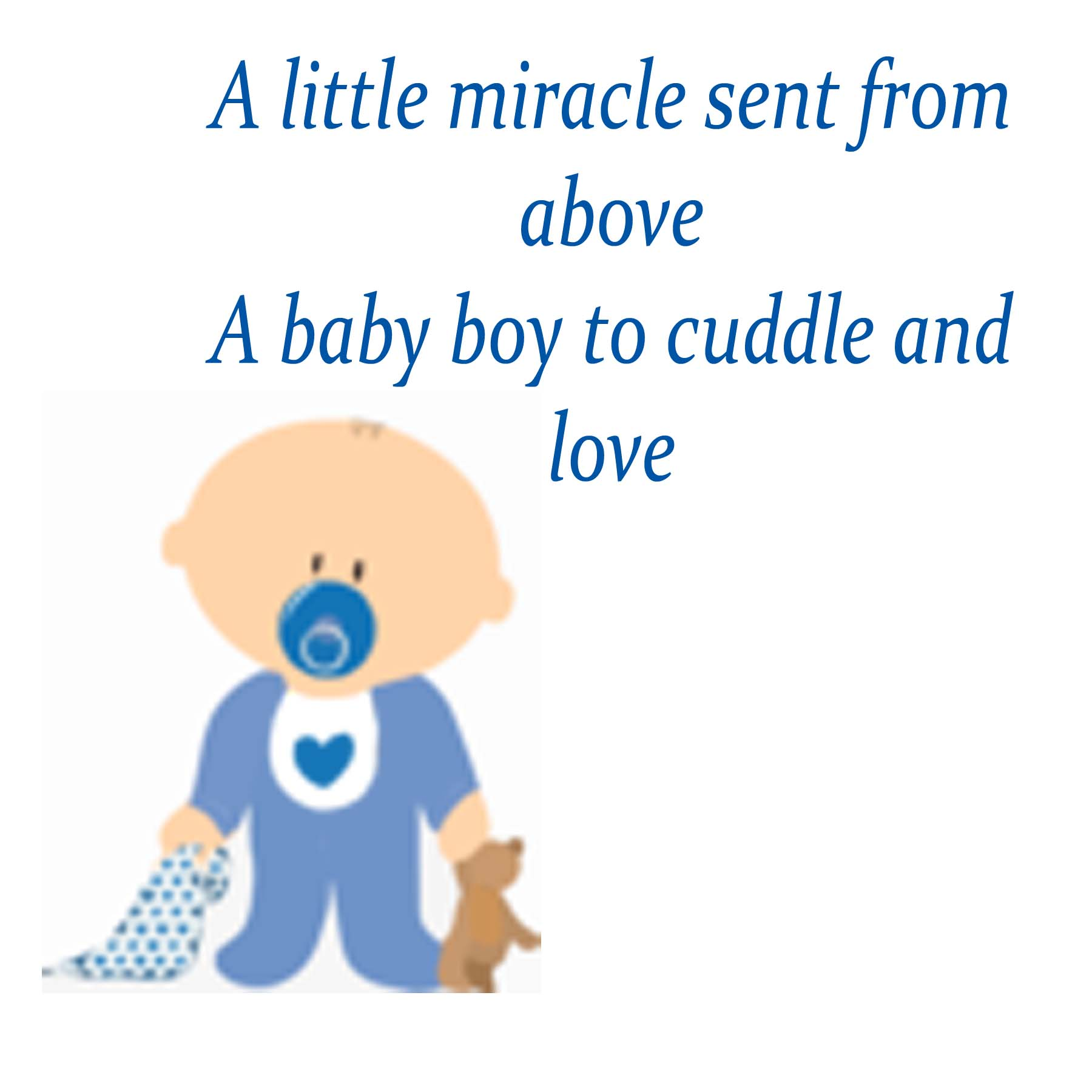 Baby boy poems for baby shower