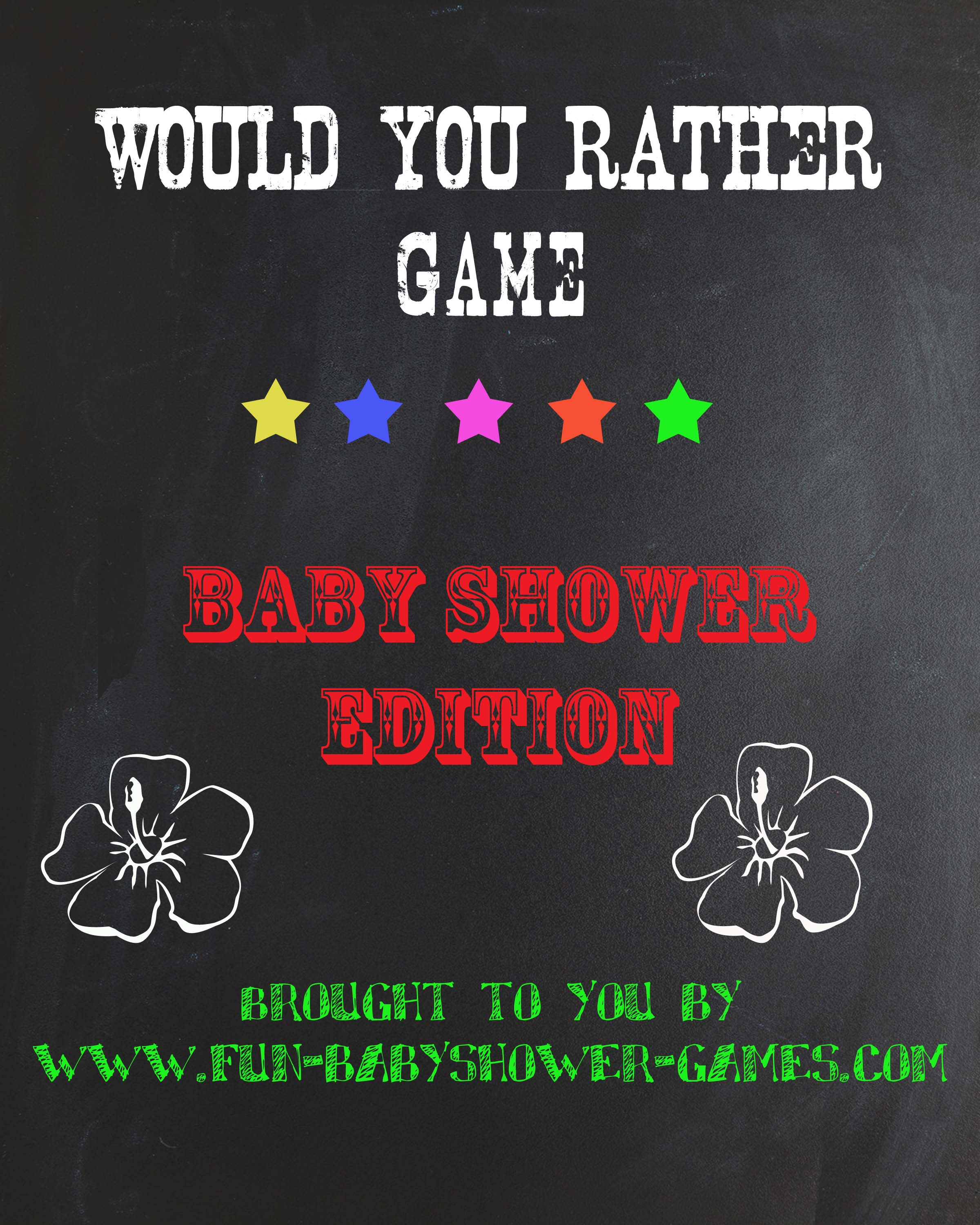 Would You Rather Baby Shower Game