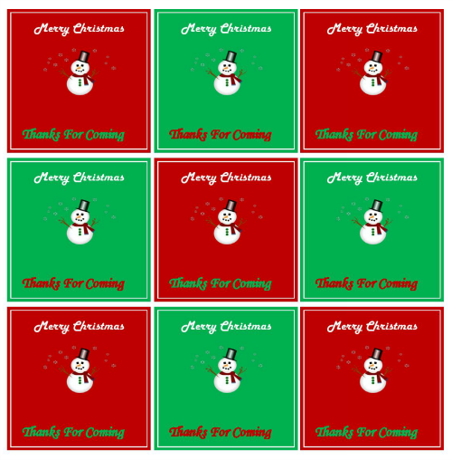 christmas baby shower favor tag