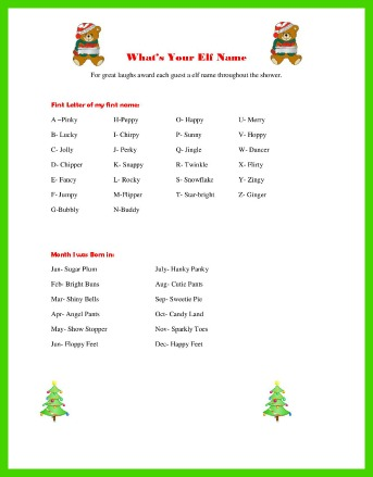 Christmas Baby Shower Games