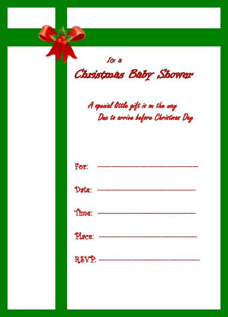 baby shower christmas invite