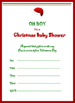 boy christmas baby shower invitation