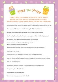 Dramatic image within baby shower pass the prize rhyme printable